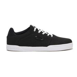 Oakley Adult Canvas Flyer Sneaker (Jet Black) Lace Up Trainers/Pumps/Deck Shoes