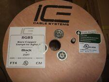 ICE CABLE SYSTEMS (5) Mini Digital Coax, 75ohm, 25ga Solid BC Center Black