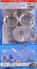 1/12 FERRARI 250GTO METAL MACHINED SPOKED BORANI WHEELS (FRONT & REAR) for HIRO