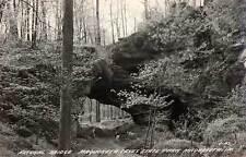 1930 MAQUOKETA IA Caves State Park Natural Bridge Cook REAL PHOTO postcard RPPC