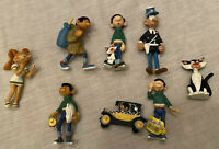Figurine Collection Gaston Lagaffe Plastoy Marsu 1998, 3 1/8in, Lot Of 8