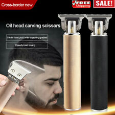 Electric Cordless Close Cutting T-Blade Trimmer Rechargeable Hair Clipper Set A