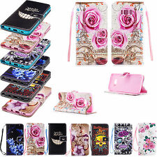 Girl Boys Leather Flip Wallet Slots Cover Case For Samsung Galaxy J3 J5 J7 S7 S6