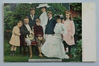 President Theodore Roosevelt  and Family 1907 Undivided Back Postcard 8680