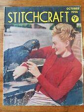 Vintage Stitchcraft Magazine, 1940's, Knitting patterns, Homefront,