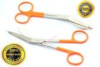 "Premium 2 Lister Bandage Nurse Scissors 5.5""+4.5"" Medical Surgical Instruments"