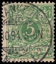 """GERMANY 47a (Mi46b) - Numeral of Value """"1890 Yellow Green"""" (pa79108)"""