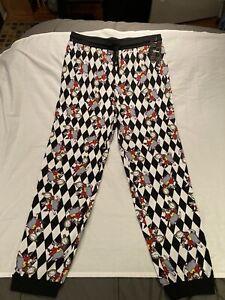 Men's Disney Alice in wonderland lounge pants, size large, NWT!