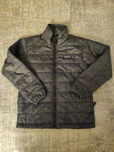 Patagonia Kids primaloft Puff Jacket, Full ZIp, Gray, Unisex, Size  (7-8)
