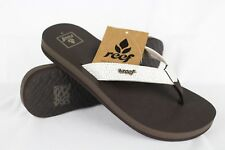 New Reef Women's Mia Sassy Flip Flop Thong Sandals Size 8m Brown White