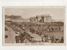 Hastings White Rock Gardens Sussex 1927 RP Postcard 582b