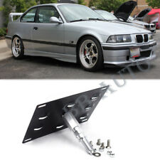 Tow Hook Hole Cover License Plate Bracket Mount Holder For 92-98 BMW E36 3Series