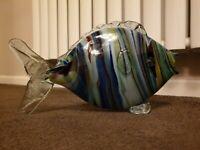 Vintage Murano Glass Fish  Art Glass Handblown mint 32cm long