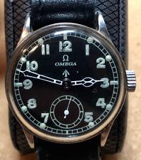 Vintage Omega Military Men's Watch Black Dial Broad Arrow Dirty Dozen 15j Swiss