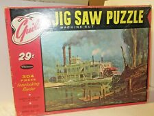 """Guild jig saw puzzle Sternwheeler """"Whippoorwill"""" 304 pieces 18"""" X 14""""  complete"""