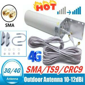 ❤Signal Booster Antenna Dual SMA Male 3/4G LTE Outdoor Fixed Bracket WallMount!!