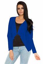 ✅New Royal Blue Blazer Waterfall Style ✅Long Sleeve Jacket Size UK 10 BNWT ✅