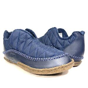 SOREL Mens Manawan II Quilted Nylon Bootie Shoe Slippers Blue 8.5 (MSRP $85)