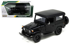 Toyota FJ40 FJ 40 Matt Black Platinum 1/24 Diecast Car Model By Motor Max 79323