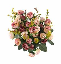 Samyo 21 Heads Artificial Silk Rose Dried Flowers Flower Arrang... Free Shipping