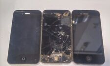 Lot of 3 Apple iPhone 4s Black For Parts Only- No Power