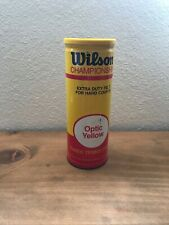 Vintage Tennis Ball Can - Wilson Optic Yellow