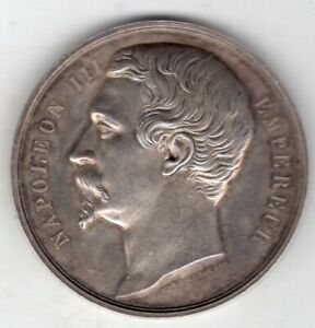 1855 French Napoleon III Silver Medal, Agriculture Show of Metz, by de Longueil