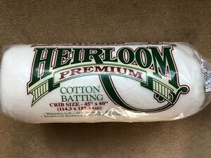 """Hobbs Heirloom Batting/Wadding for Patchwork Quilts - CRIB size 45"""" x 60"""""""