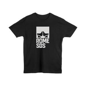 Rome SDS Men's Logo S/S T-Shirt Tee XL Black Extra Large New 2020