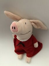 Olivia The Pig Doll MerryMakers Plush Stuffed Ian Falconer Red Sailor Dress 11""