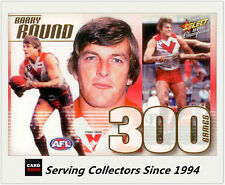 2008 Select AFL Champions 300 Game Case Card CC24 Barry Round (Sth Melb)