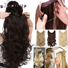 One Piece Wire in Hair Extensions Invisible as remy human hair With Elastic Line