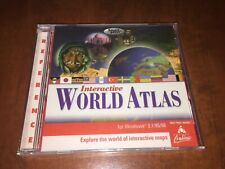 The Learning Company Compton's Interactive World Atlas CD ROM NEW Sealed