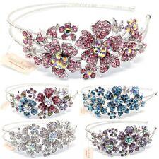 New Fashion Crystal Rhinestones metal big Flower Headband head-wear Accessories