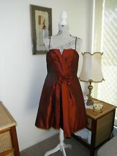 Designer Alfred Angelo Ladies Cranberry Formal/Evening/Cocktail Dress Size 12