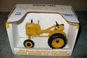 LI 1/16 JOHN DEERE GREAT AMERICAN TOY SHOW Tractor 1994 NIB SPEC CAST