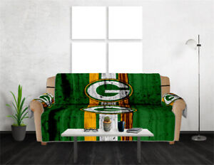 1/2/3 Seat Green Bay Packers Sofa Couch Cover Elastic Slipcover Protector