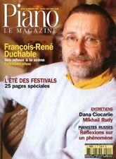 Piano magazine n° 35 avec CD - Juillet-Août 2003 - François-René Duchable