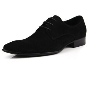 New Men's Suede Leather Shoes Nubuck Leather Lace Up Formal Shoes U1533