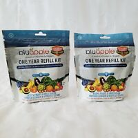 2Pk Bluapple 1 Year Refill Kit (16 Packets) Keeps Produce Fresh Activated Carbon