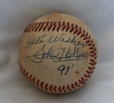 Official South Atlantic League Baseball Game Used John Moss, President Autograph