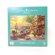 Gibsons Thomas Kinkade French Riviera Cafe 1000 Piece Jigsaw Puzzle Complete!