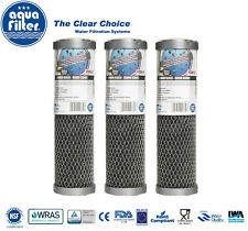 "3 x 10"" Silver Series Carbon and Softening Block Filters for Reverse Osmosis"