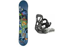 CRAZY CREEK Alian Homer 128 Snowboard Set NITRO Bindung Kinder CC Board Set