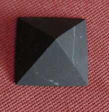 Shungite Unpolished Pyramid 40 mm Healing Protection Schungite Karelia Russia