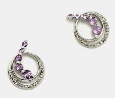 Ohrstecker  Amethyst & Diamant  925  Sterling Silber