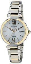 Seiko Women's Silver Dial Gold Stainless Steel Bracelet Watch SUT154P1  RRP £199