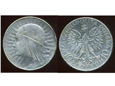 POLOGNE  POLAND  10 zlotych 1932   ARGENT  SILVER