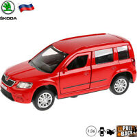 Diecast Car Scale 1:36 Skoda Yeti Red Compact SUV Russian Model Toy Cars