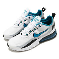 Nike Air Max 270 React White Light Laser Blue Grey Black Men Shoes CT1280-101